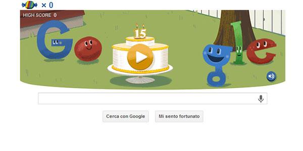 google 15 anni