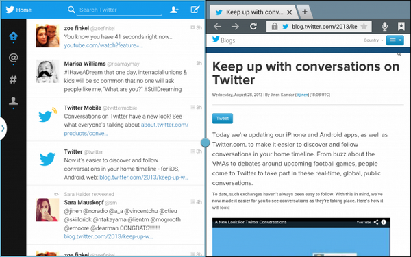 twitter android multiscreen