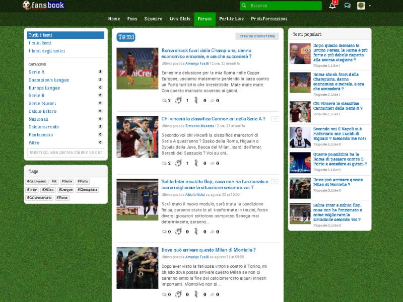 Fansbook, il Social Calcio